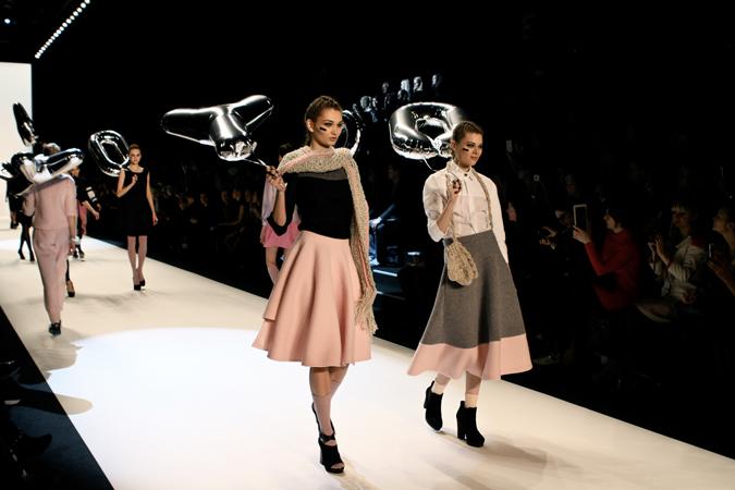 Anne Gorke en Mercedes Fashion Week Berlín