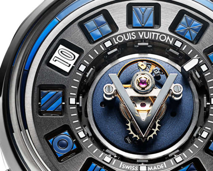 Louis Vuitton: Escale Spin Time Tourbillon Central Blue